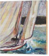 Abaco Dinghy Race II Wood Print
