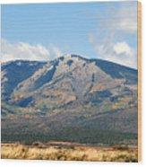 Abajo Mountains Utah Wood Print