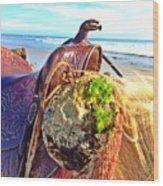 Abalone On Saddle Wood Print
