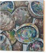 Abalone Shells Wood Print