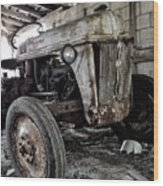 Abanded Tractor 3 Wood Print