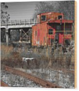 Abandon Caboose Wood Print