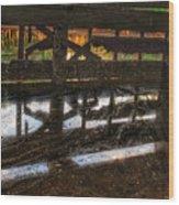 Abandon Dock Wood Print