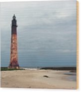 Abandon Lighthouse Wood Print