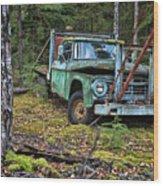 Abandoned Alaskan Logging Truck Wood Print