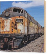 Abandoned Bessemer And Lake Erie Trains Schellville California Wood Print