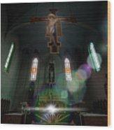 Abandoned Blue Church - Chiesa Blu Abbandonata Wood Print