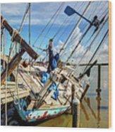 Abandoned Boat - Houston, Tx Wood Print
