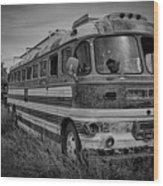 Abandoned Bus Wood Print