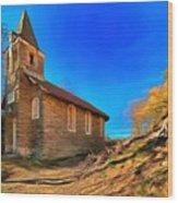 Abandoned Church Of Abandoned Village Paint - Chiesa Abbandonata Di Paesino Abbandonata Paint Wood Print