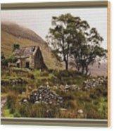 Abandoned Cottage - Scotland H B With Decorative Ornate Printed Frame Wood Print