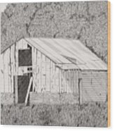 Abandoned Dairy-oklahoma Wood Print by Pat Price