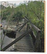 Abandoned Dock Wood Print