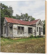 Abandoned Farm House Wood Print