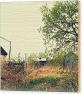Abandoned Farm Yard Wood Print
