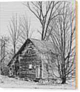 Abandoned Farmhouse In The Michigan Countryside Wood Print