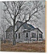 Abandoned Farmhouse Wood Print