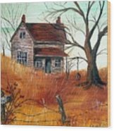 Abandoned Farmhouse Wood Print