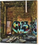 Abandoned, Hdr Wood Print