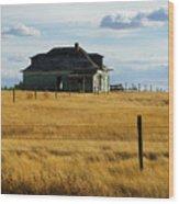 Abandoned Homestead Saskatchewan Wood Print