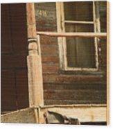 Abandoned House - Abandoned Porch Wood Print