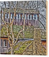 Abandoned House-don Robinson State Park-enhanced Wood Print
