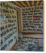 Abandoned House, Full Of Hope Wood Print