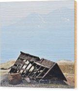 Abandoned In A Sea Of Mining Tailings Wood Print