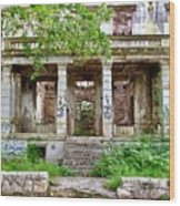 Abandoned In Mostar Wood Print