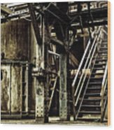 Abandoned Industry Wood Print