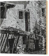 Abandoned Ix Wood Print