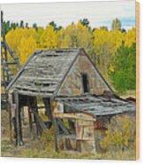 Abandoned Mine In Autumn Wood Print