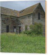 Abandoned Montana Homestead Wood Print