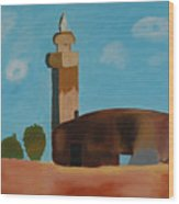 Abandoned Mosque Wood Print