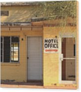 Abandoned Motel Office Wood Print