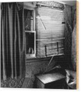 Abandoned Motel Room Wood Print