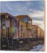 Abandoned Railcar Wood Print