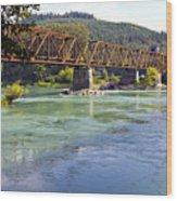Abandoned Railroad Bridge Wood Print
