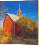 Abandoned Red Barn Wood Print