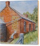 Abandoned Red Brick Cottage Near Maldon Wood Print