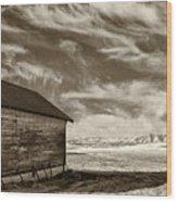 Hilltop Schoolhouse Wood Print