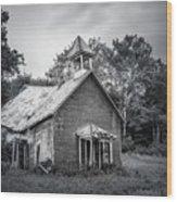 Abandoned Schoolhouse Wood Print