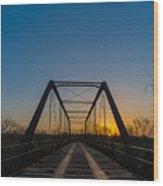 Abandoned Steel Bridge Wood Print