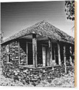 Abandoned Stone House Wood Print