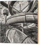 Winding Slide - Abandoned Swimming Pool Wood Print
