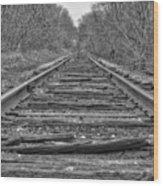 Abandoned Tracks Wood Print
