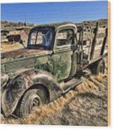 Abandoned Truck Wood Print