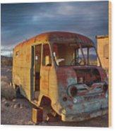 Abandoned Van Wood Print