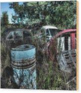 Abandoned Vehicles - Veicoli Abbandonati  1 Wood Print