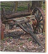 Abandoned Wagon Wood Print by Tom Mc Nemar